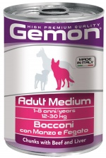 Gemon Консервы Dog Medium Adult Beef/Liver