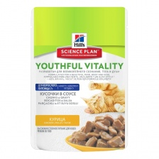 "Hill's SP Feline Mature 7+ Youthful Vitality Chicken ""Курица"" 12 х 85 гр"
