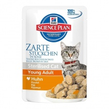 "Hill's SP Young Adult Sterilised Chicken ""Курица"" Pouch 12 х 85 гр"